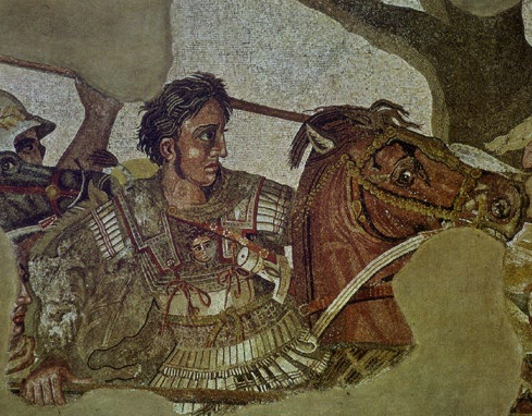 Alexander the Great at Gaugamela.