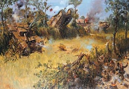 Scots Guards Fighting in Bocage.